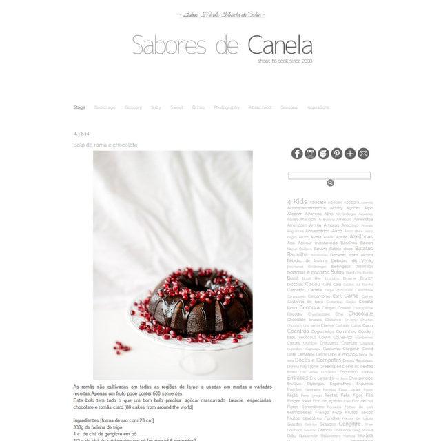 Blog Sabores de Canela