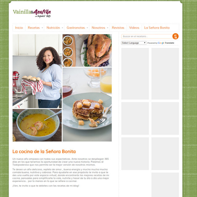 Blog Vainilla y Azafran de Sagrario Matos