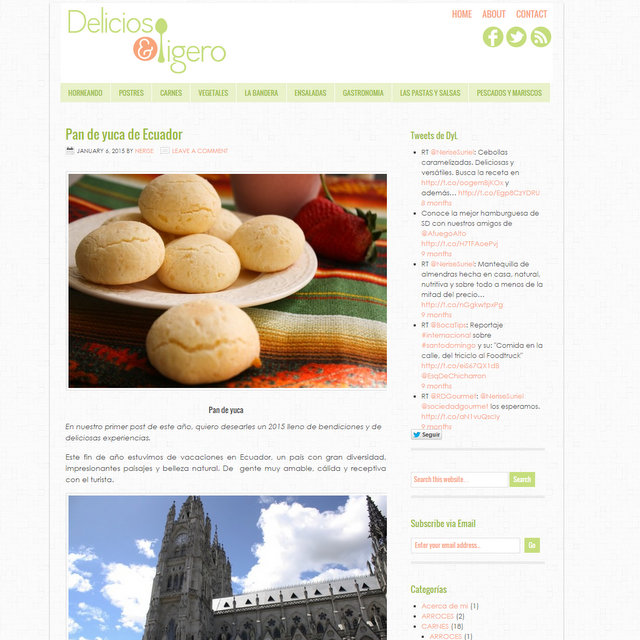 Blog de cocina Delicioso y Ligero