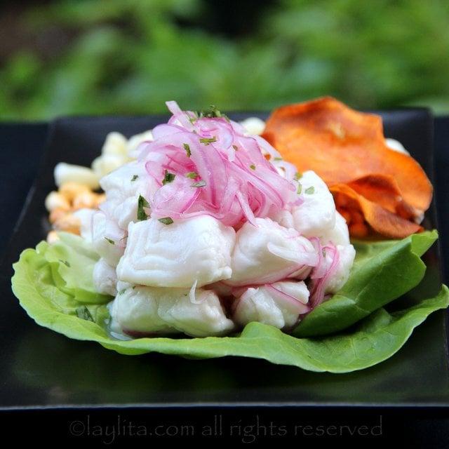 ceviche pescado peruano