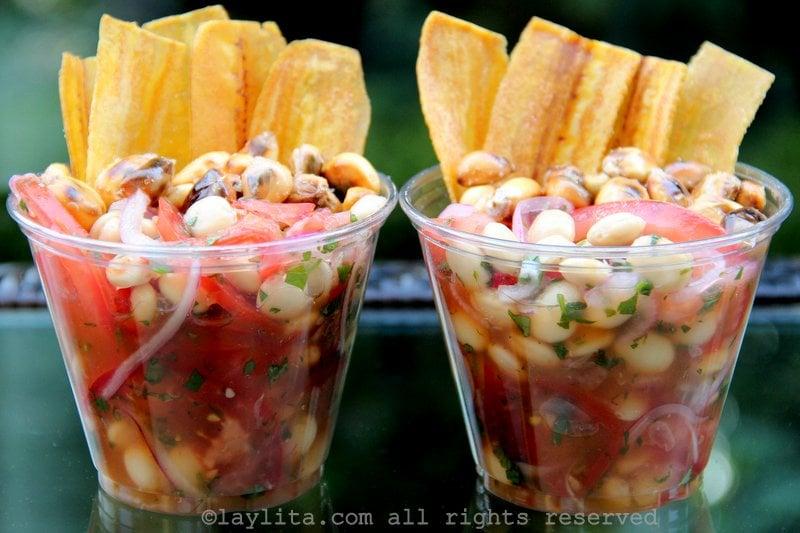 Ceviche vegetariano de chochos, lupini, tarwi o altramuz