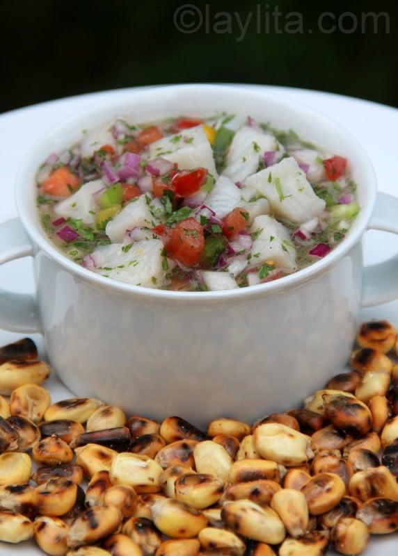 Ceviche de pescado ecuatoriano