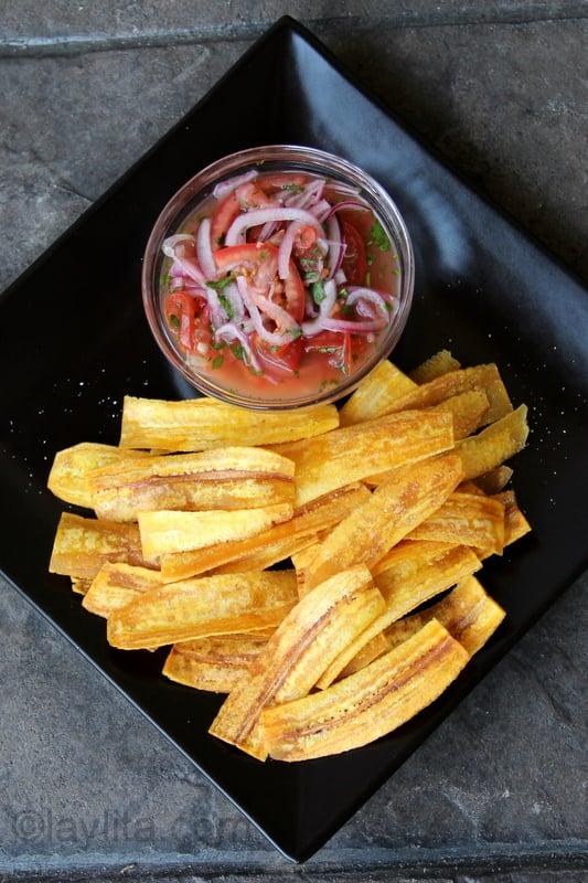 Chifles o chips de platano verde
