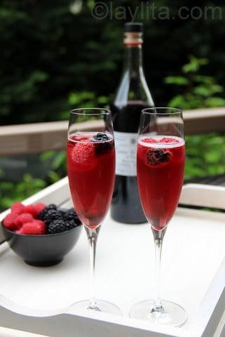 Coctel fances de champan