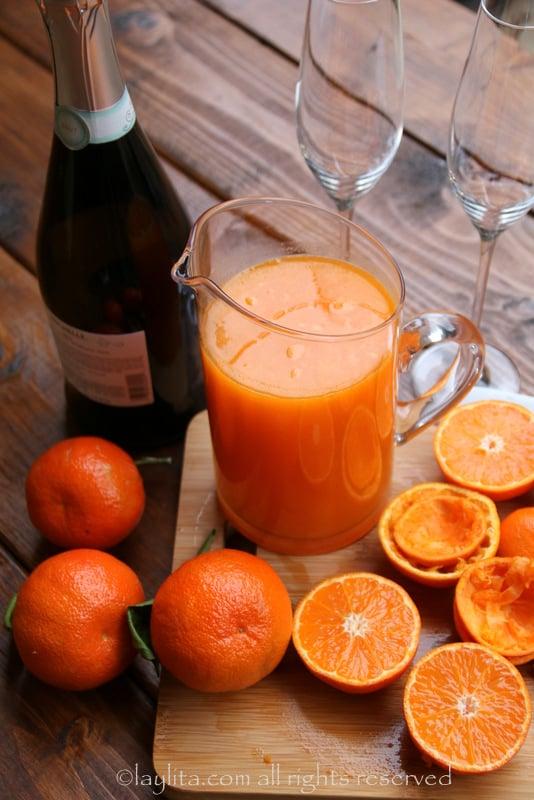 Cocteles de mandarina
