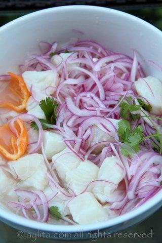 Como preparar cebiche peruano