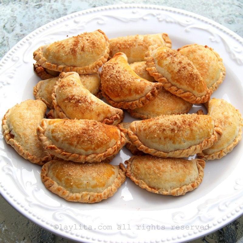 Empanadas con relleno dulce de zapallo o calabaza