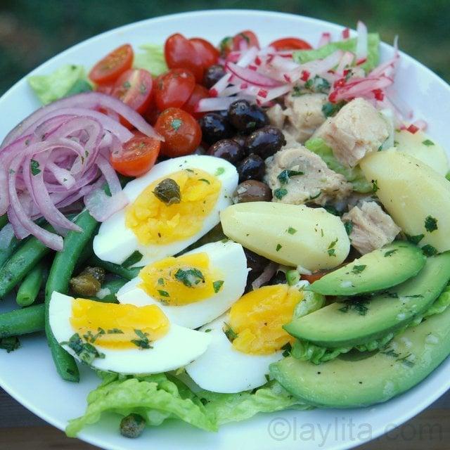 ensalada nicoise francesa o ensalada nizarda recetas en