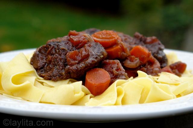 Estofado o guiso de carne a la francesa