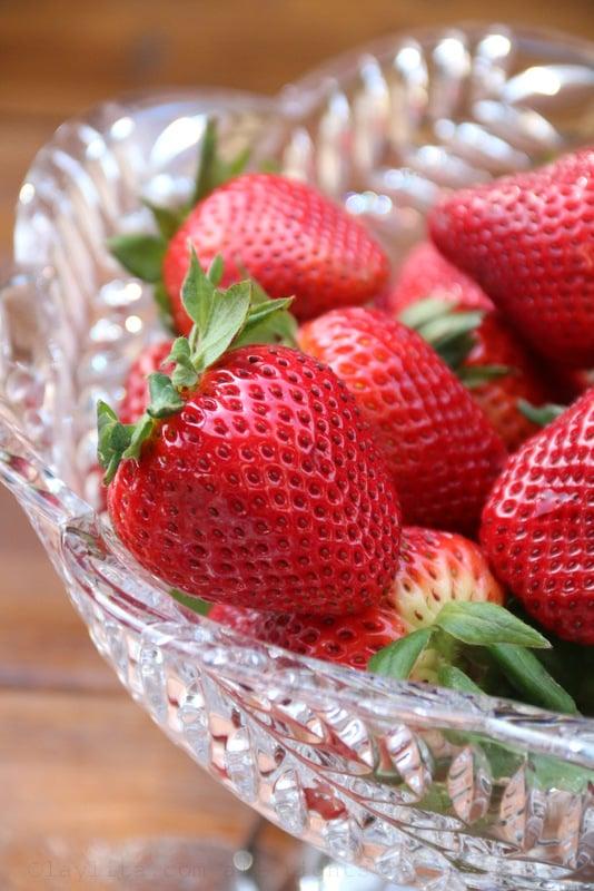 Fresas o frutillas para el pastel