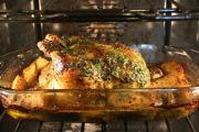 Gallina o pollo asado con chimichurri