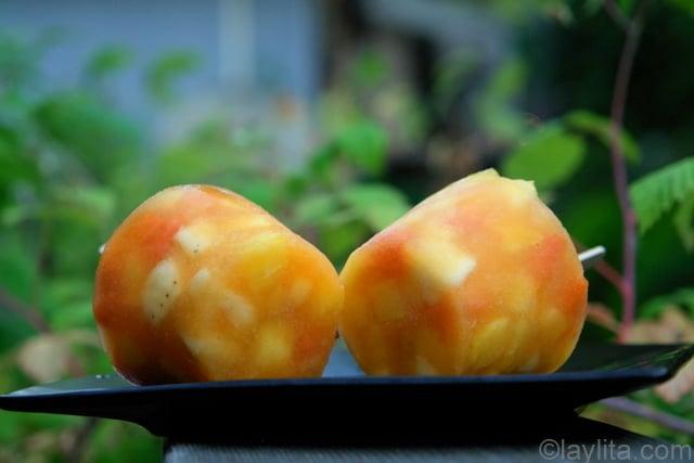 Helados de ensalada de frutas