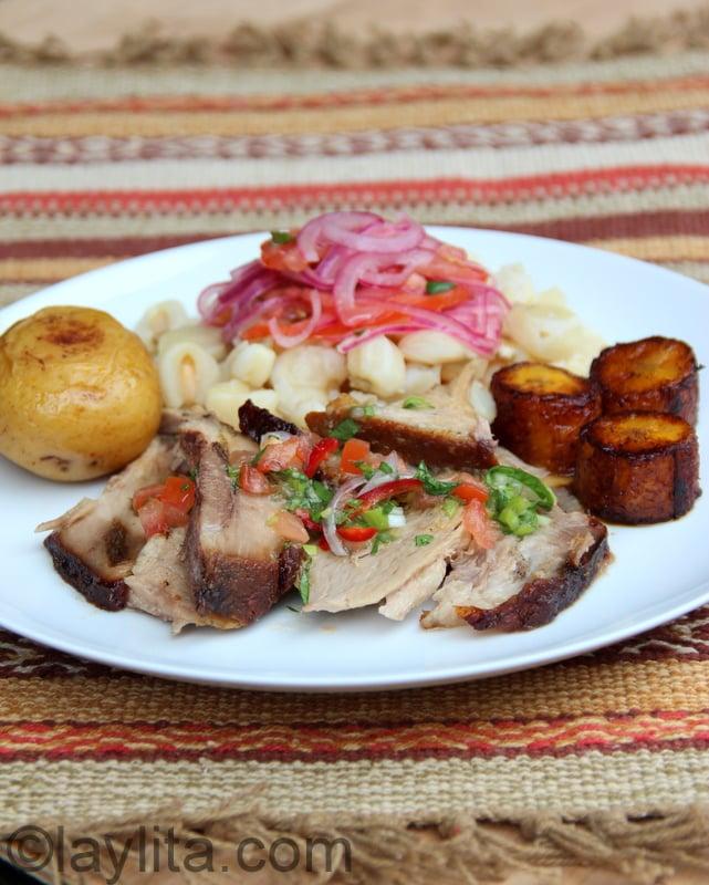 Receta del hornado ecuatoriano