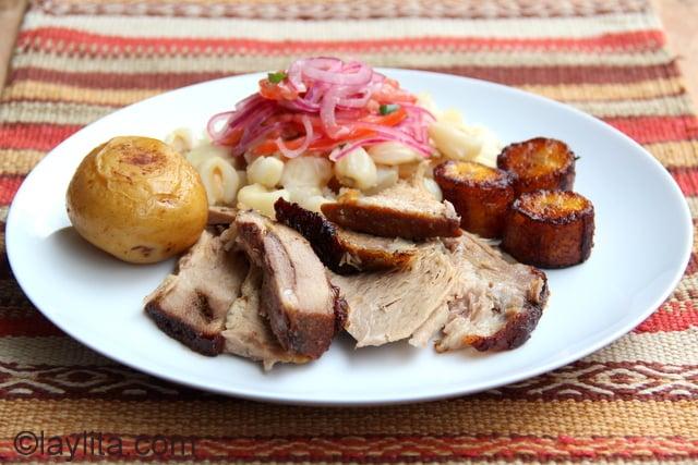 Chancho hornado ecuatoriano