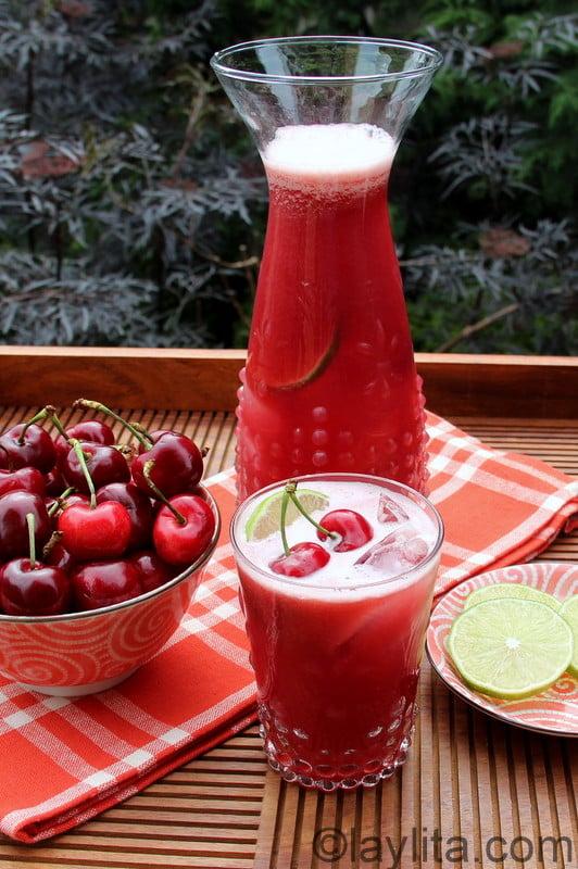Limonada de cerezas receta
