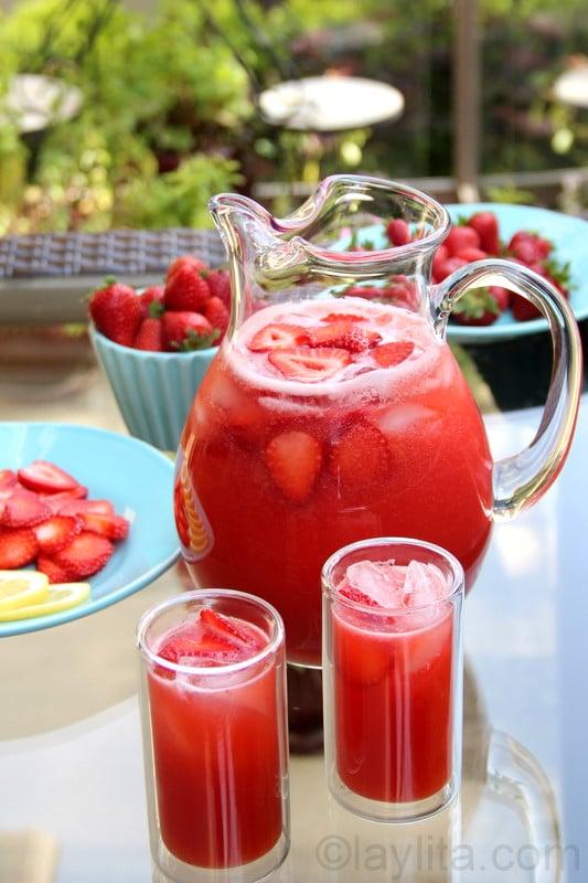 Receta para preparar limonada de fresa en casa