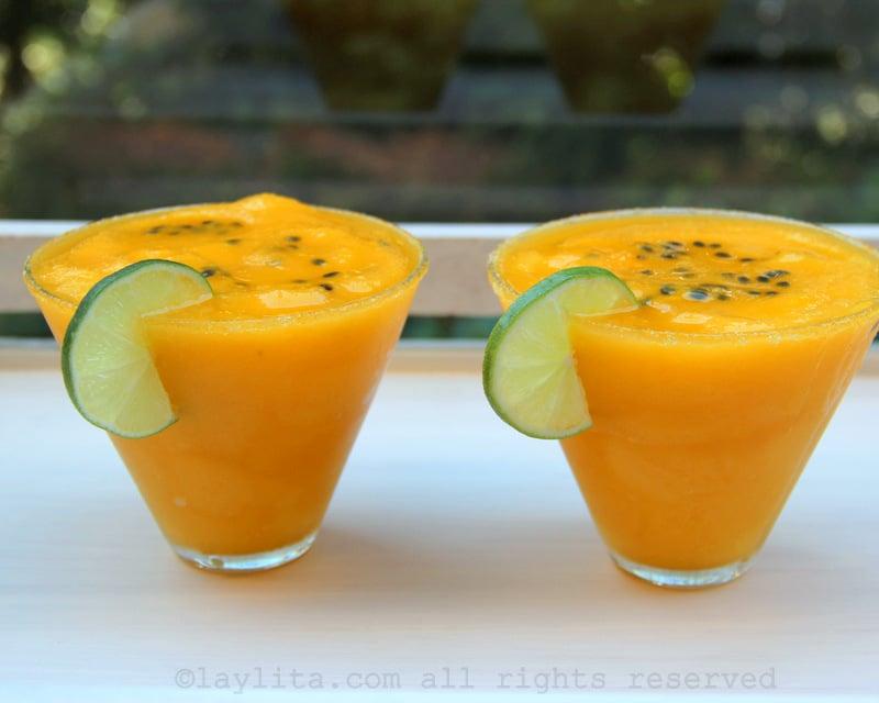 Margaritas de mango y maracuyá