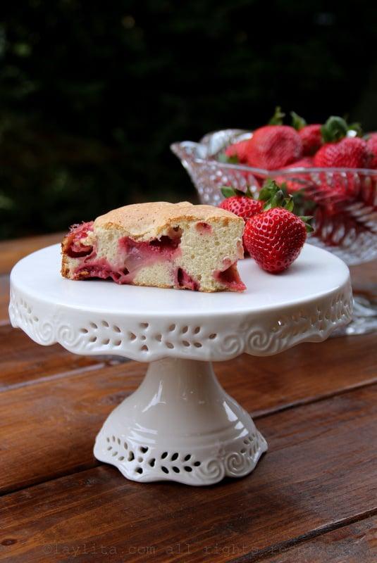 Pastel casero de fresas