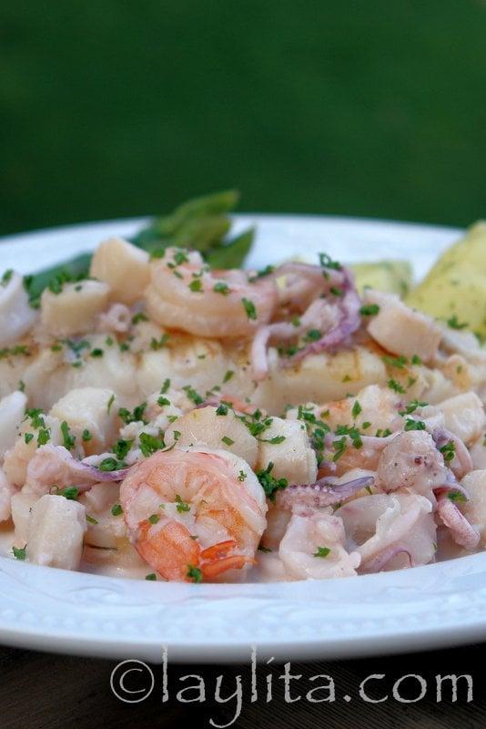 filete de pescado plancha en ingles