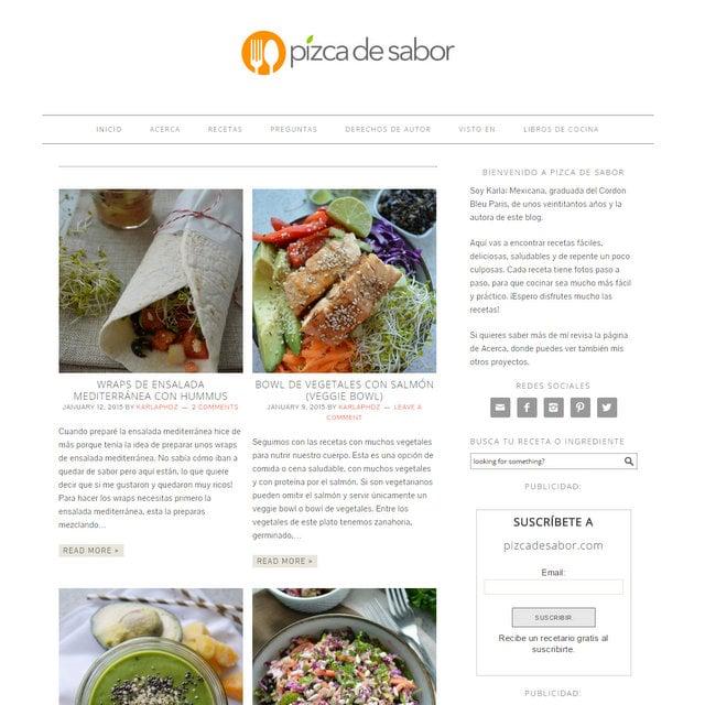 Pizca de Sabor blog de cocina