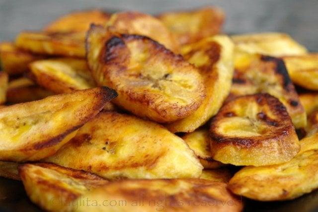 Platanos maduros fritos