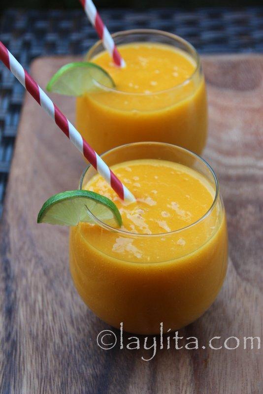 Receta del batido de mango y maracuyá