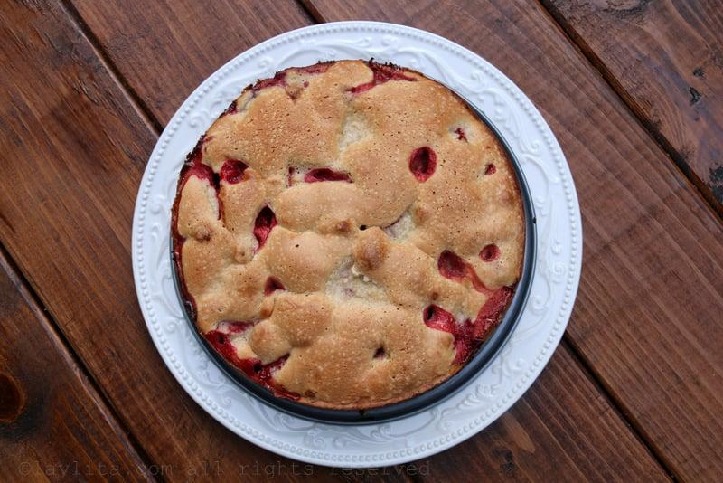 Receta del pastel de fresa o frutilla