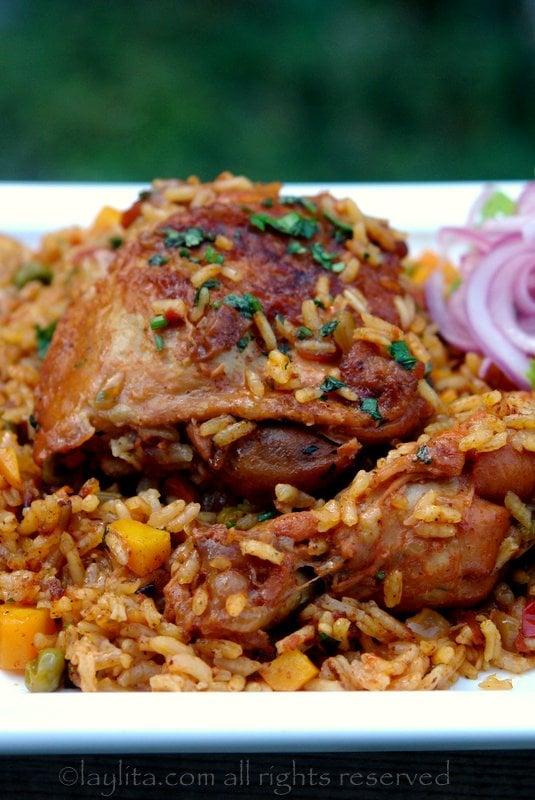 Receta facil del arroz con pollo