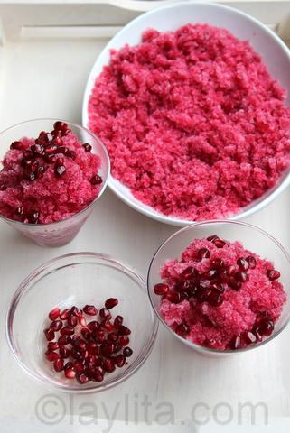 Receta para granizados de frutas