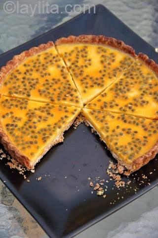 Receta para tarta de maracuya