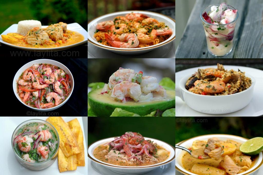 Recetas ecuatorianas de pescado y mariscos