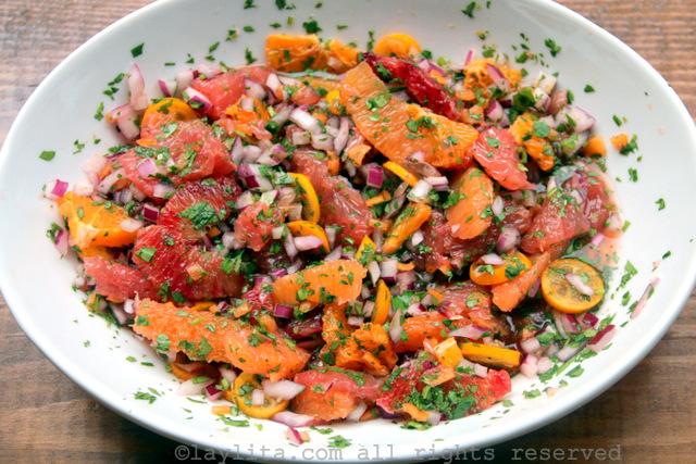 Salsa picante de cítricos con ají habanero