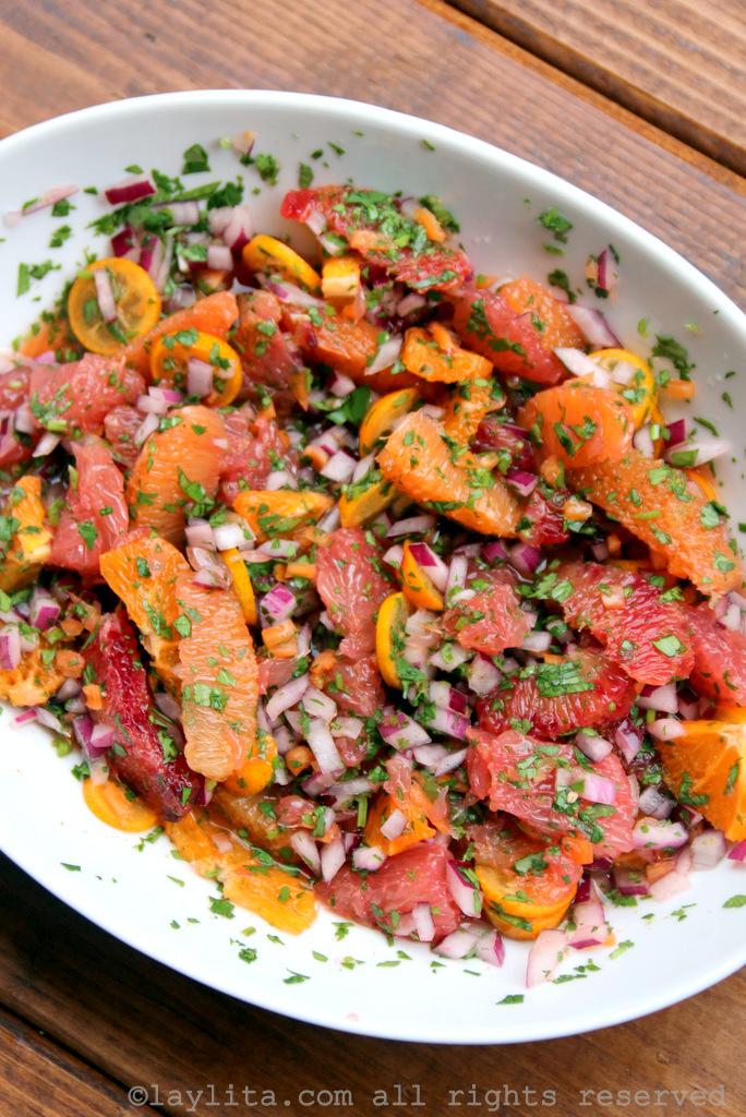 Salsa picante de naranja con habaneros