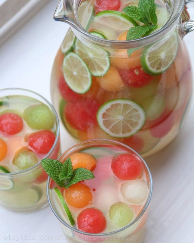 Sangría de melón receta