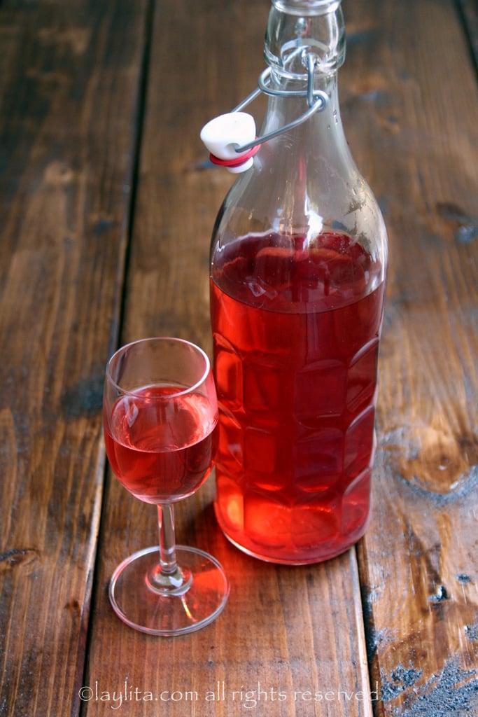 Tequila con sabor natural a fresa o frutilla