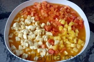 Preparação de Salada de Fruta