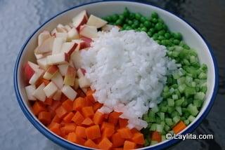 Vegetais picados