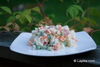 Salada de batatas russa