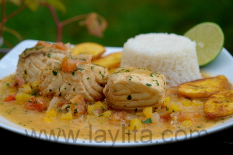 Pescado en salsa de coco
