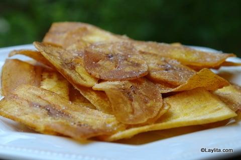 Variation originale des chips, utilisant des bananes