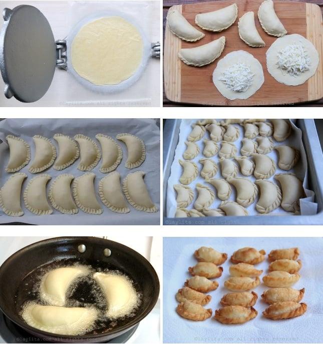 Cuisson de la pâte empanadas pour frire à la poêle