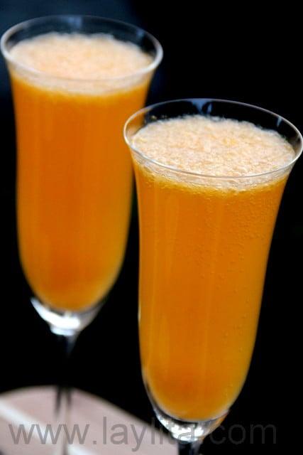 Le mimosa à la mandarine ou clémentine constitue une boisson idéale pour les fêtes.