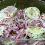 Salade de concombre (citron vert et coriandre)