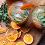 Mojito de mandarine, cocktail rhum pétillant
