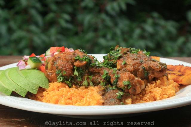 Ragoût équatorien de poulet seco de pollo