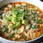 Recette de la soupe de tortilla au poulet ou à la dinde