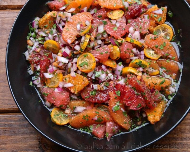 sauce salsa d'agrumes