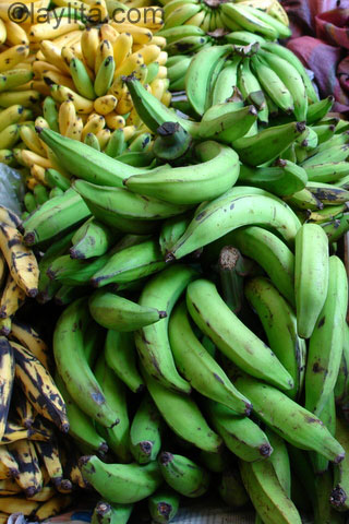 Bananes plantains vertes