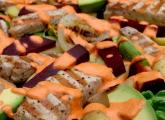 Recette de la salade au porc grillé