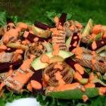 Salade sud américaine de porc grillé